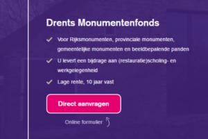 Drents Monumentenfonds voor karakteristieke panden is momenteel leeg